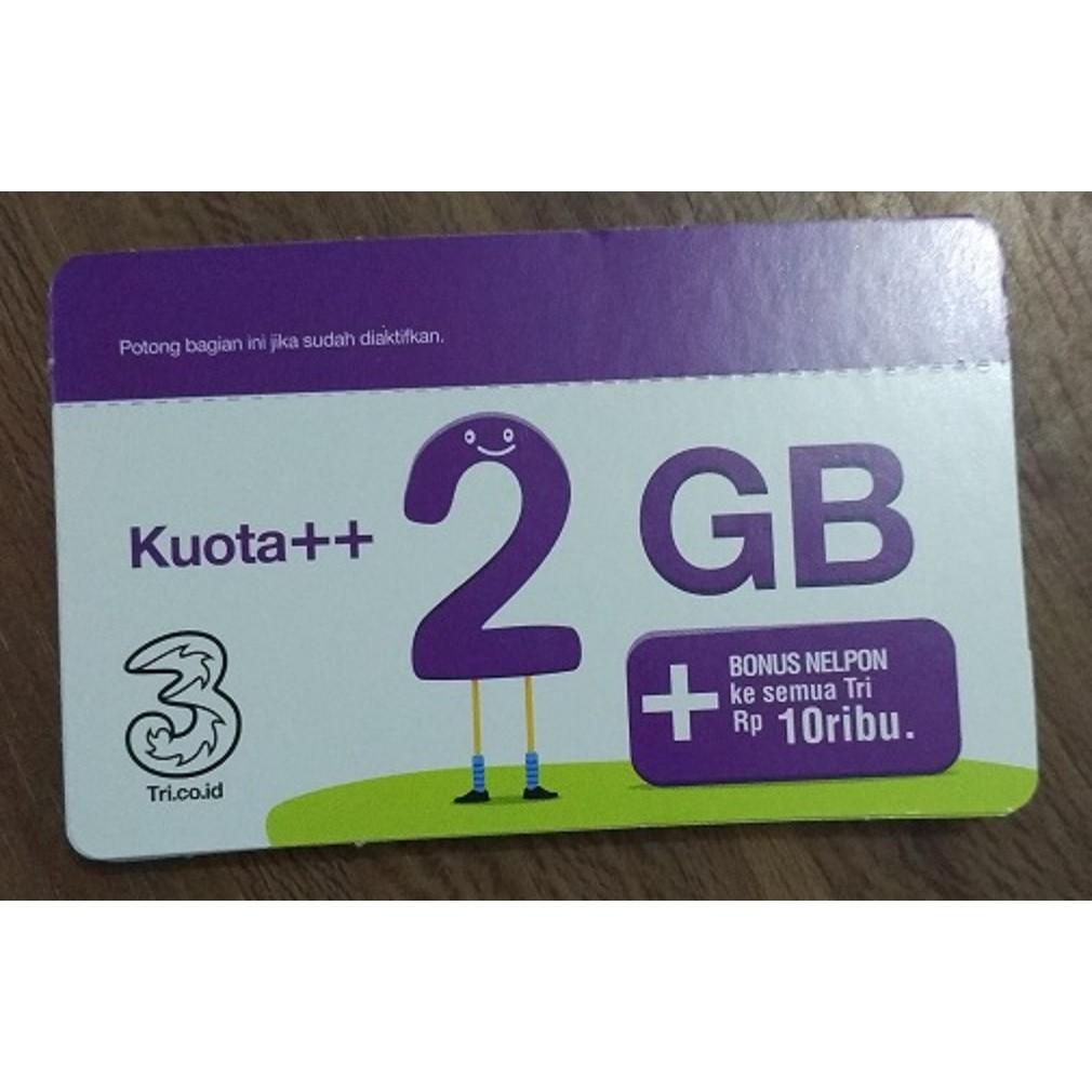 Voucher Isi Ulang Kuota Data Tri 3 Three Aon 6gb 6 Gb Lte 2gb 4gb