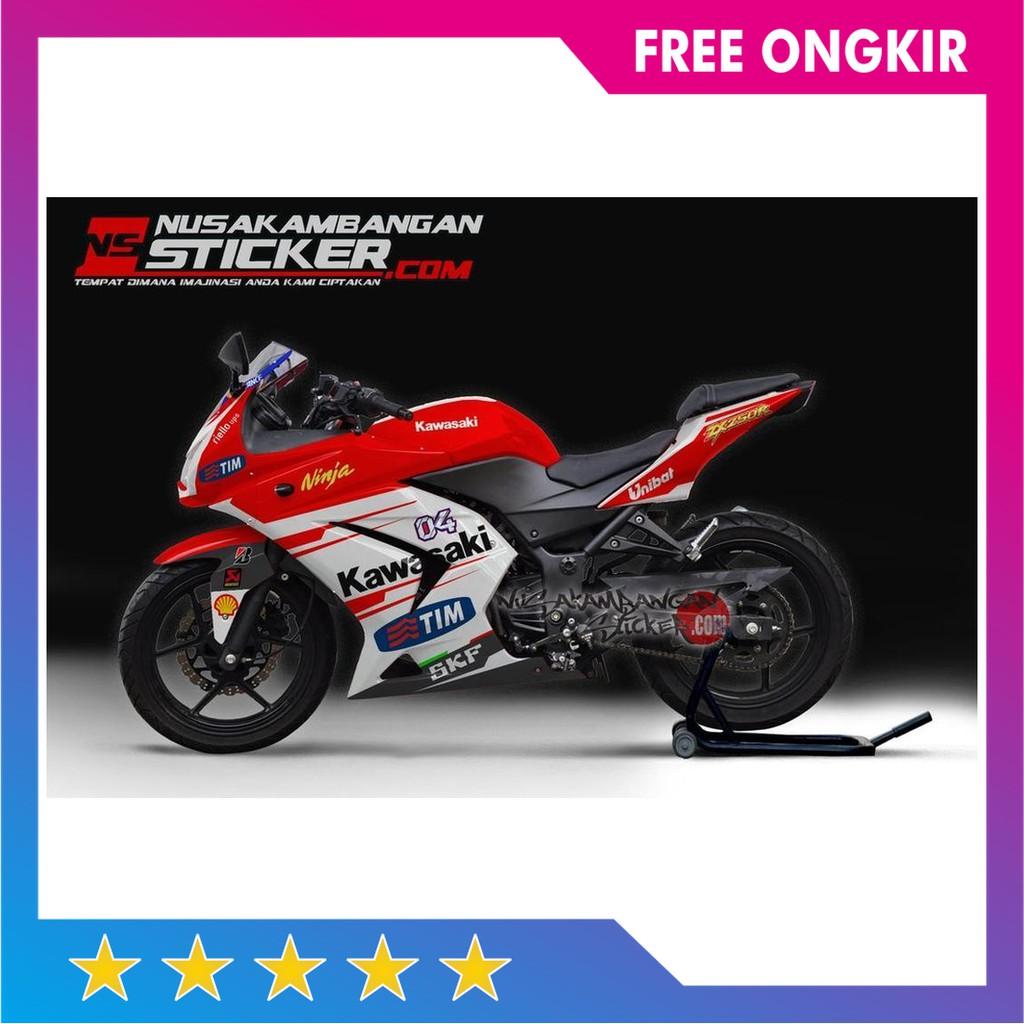 Laris Decal Motor Sticker Motor Ninja 250 Karbu Versi Ducati Murah
