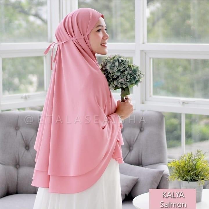 Jilbab Hijab Kerudung Bergo Tali Instan Khimar Kayla Syari Non Pet 2 Layer Jumbo Termurah Shopee Indonesia