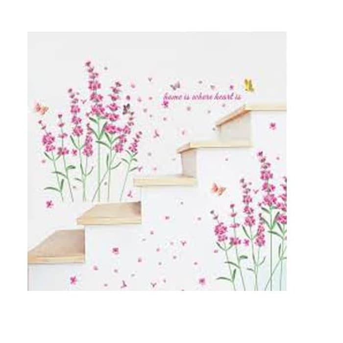 Wallsticker Wall Stiker 50x70 Am7106 Pink Love Flower Ii Terlaris
