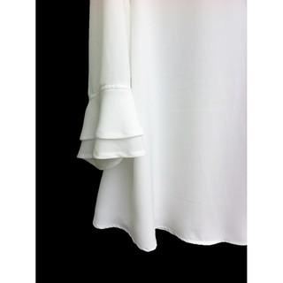 Perbandingan harga Diskon termurah [NEW] Blouse Wanita Big Size 2L, 3L, 4L & 5L Warna Putih Tulang baju murah kerja kul lowest price - only Rp108.224