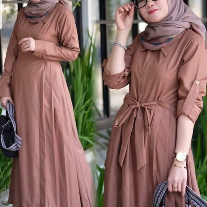 Limited Baju Gamis Wanita Terbaru Khawla Dress Termurah Shopee Indonesia