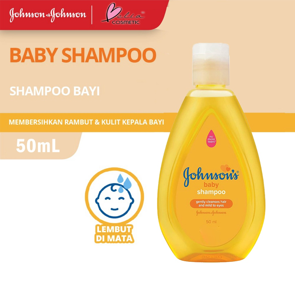 ❤ BELIA ❤ JOHNSON'S Baby Shampoo & Conditioner   Shampo Kondisioner Bayi   BPOM-JB Shampoo Gold 50ml