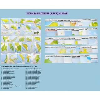 Peta 34 Provinsi Lipat 1 Set 34 Buah Peta Shopee Indonesia