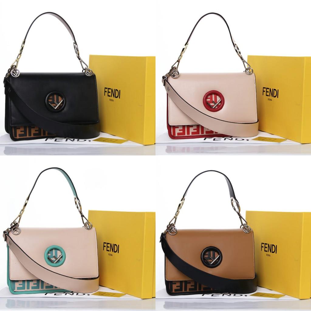Ada Real Pict New Arrival Tas FENDI Kan I F Leather Velvet Bag Spring  Summer 2018 Bahan Tebal Kokoh  9542c42558