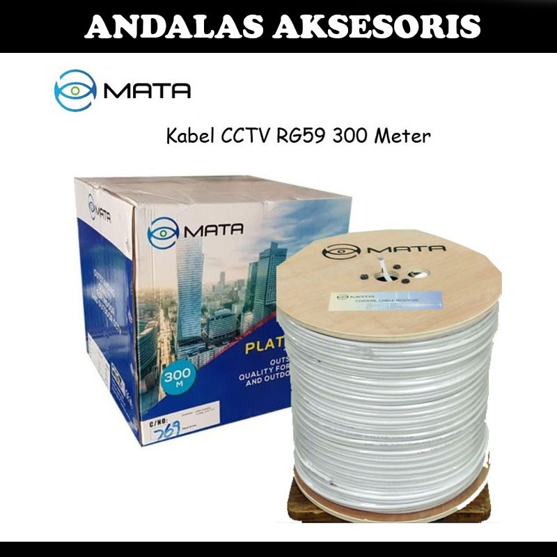 Kabel  MATA CCTV RG59 plus Power 300M 1 Roll