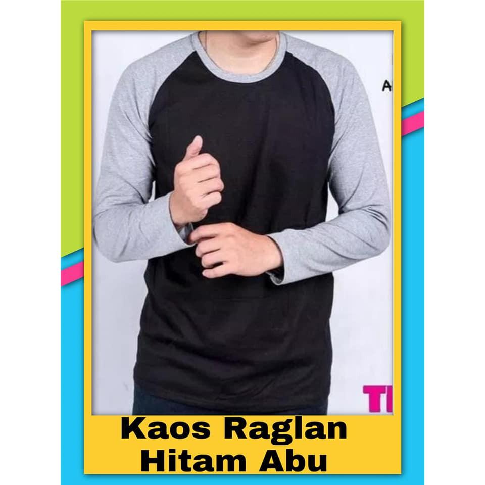 Kaos Oblong Lengan Panjang Hitam Polos Mutif M133 Atasan Dewasa Abu Misty Warna Shopee Indonesia