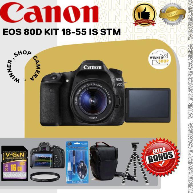 CANON EOS 80D KIT 18-55 IS STM / KAMERA CANON 80D/ EOS 80D/ 80D