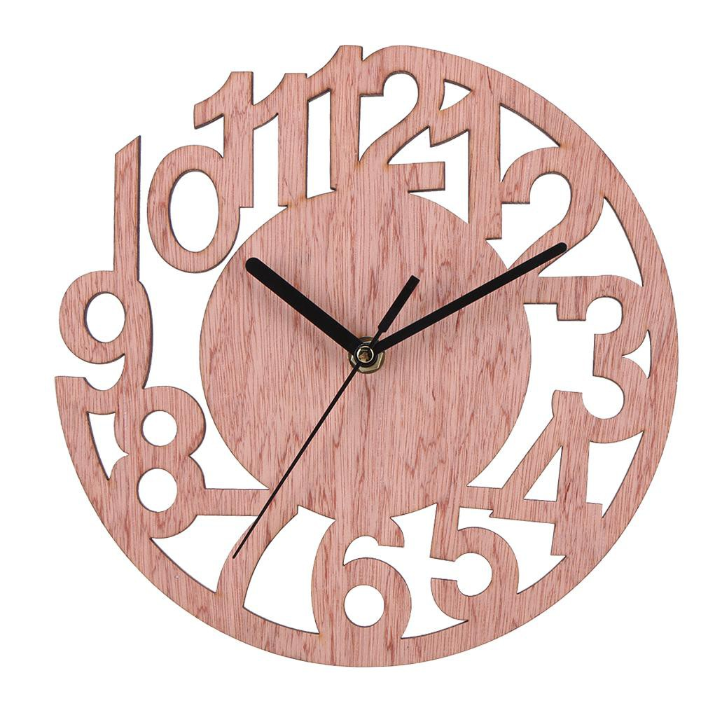 Ready Round Wall Clock Wood Clocks Home Decorative Watch For Living Room Bedroom Shopee Indonesia