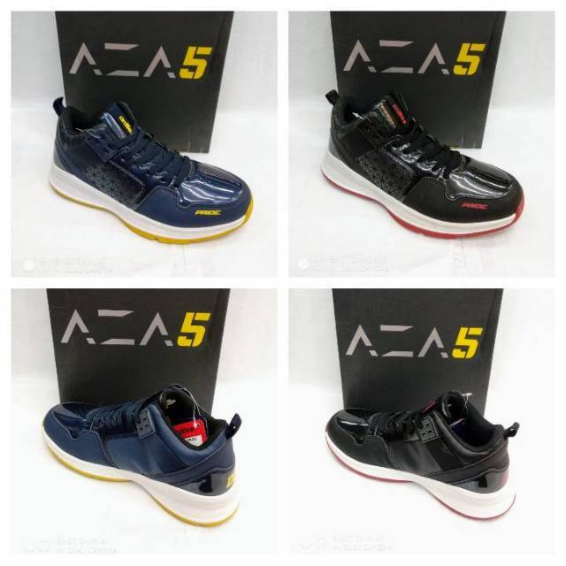 Ardiles Men Aza 5 Sepatu Basket Hitam Kuning  2325174686