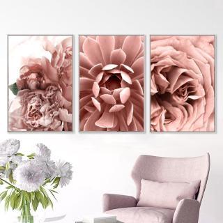 Lukisan Dengan Bahan Kanvas Dan Gambar Bunga Mawar Warna Pink Untuk Dekorasi Rumah Shopee Indonesia