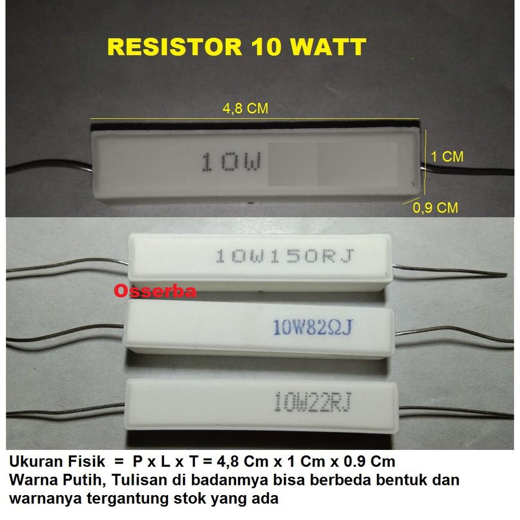 R 10W 0.22 0.47 0.5 0.68 1.5 Ohm Resistor 0,22 0,47 0,5 0,68 1,5 R22 R47 R5 R68 1R5 10 Watt