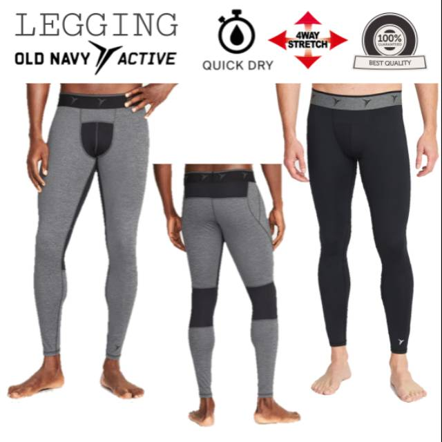 Celana Legging Old Navy Active Compression Pant Tights Sepeda Olahraga Outdoor Pria Original Shopee Indonesia