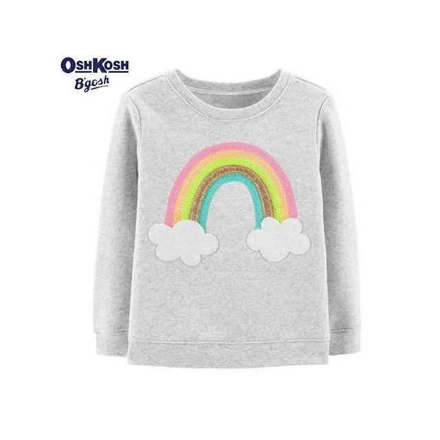 OshKosh BGosh Girls Sequin Crew Neck Sweatshirt