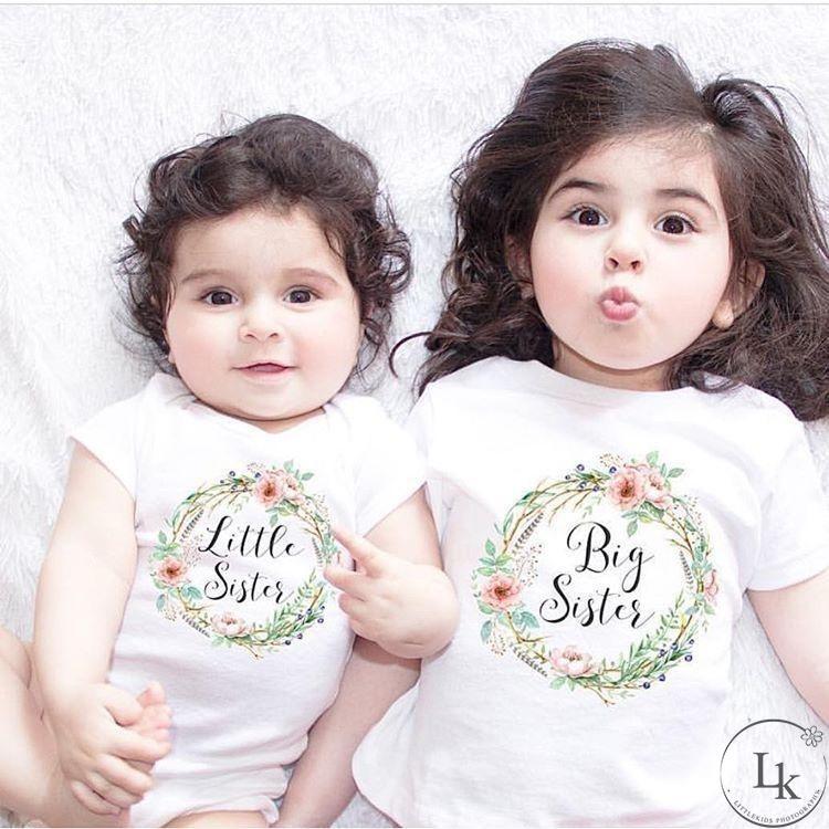Romper Bayi Perempuan Lengan Pendek Tulisan Little Sister | Shopee Indonesia