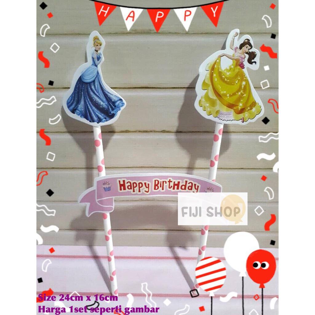 Cake Topper Hiasan Kue Ultah Topper Cake Karakter Princess Disney