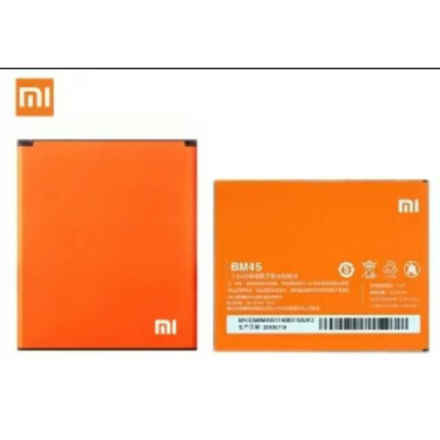 Batterai Xiaomi Redmi Note 2 BM45 Original