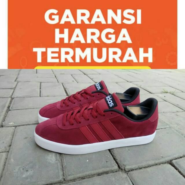 Sepatu Adidas VL Court Maroon Black Original BNWB Indonesia  d7191d0106