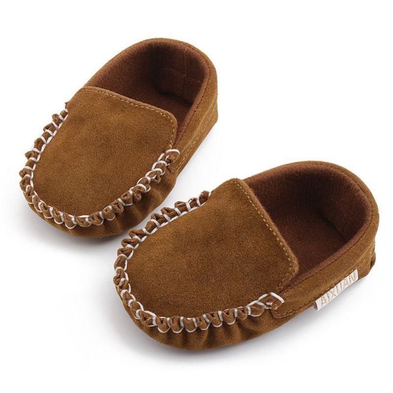 Sepatu Bayi / Prewalker PU Leather Blue Brown Biru Coklat Anak / Toodler   Shopee Indonesia