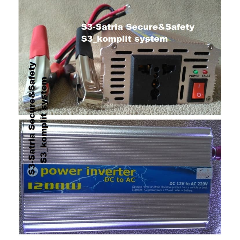 Power Inverter 1200 Watt Tbe 2 In 1 (Inverter + Charger Aki Otomatis) | Shopee Indonesia