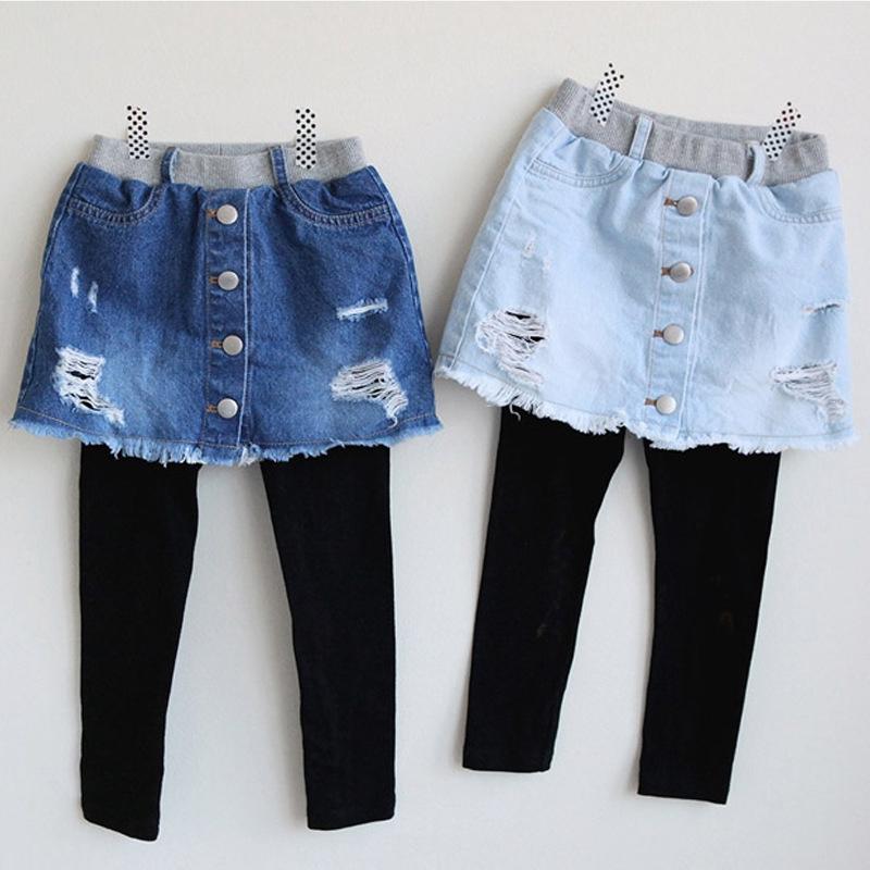 Celana Legging Panjang Dengan Rok Denim Motif Bintang Untuk Anak Perempuan Shopee Indonesia