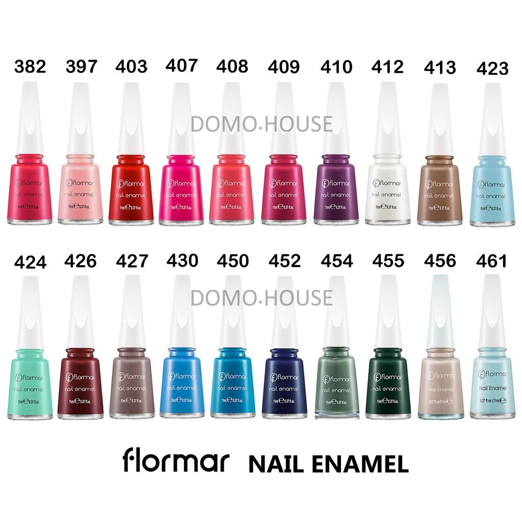 Flormar Nail Enamel Kutek Flormar Nail Polish Shopee Indonesia