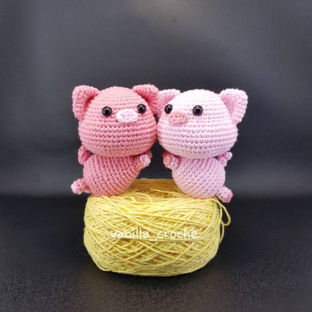 Free Crochet Pattern Keychain Little Lucky Pig | 640x640