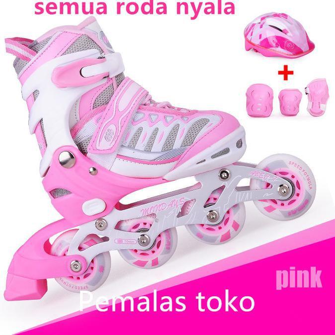 Sepatu roda anak + body protector + helm   inline skate fullset ... e4adfcfb1e