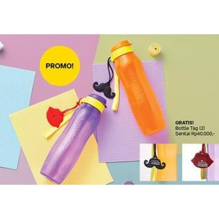 New Eco Bottle 1L 1 L (2) Set 2 Pcs Orange Ungu Botol Minum Tupperware / Tupperware Asli Bergaransi
