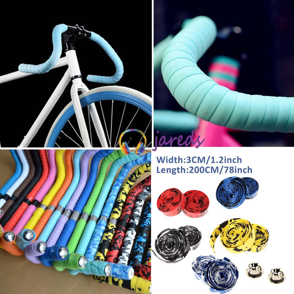 200cm PU Leather Bar Tape Handlebar Tapes Wrap for Road Bike Cycling Bicycle