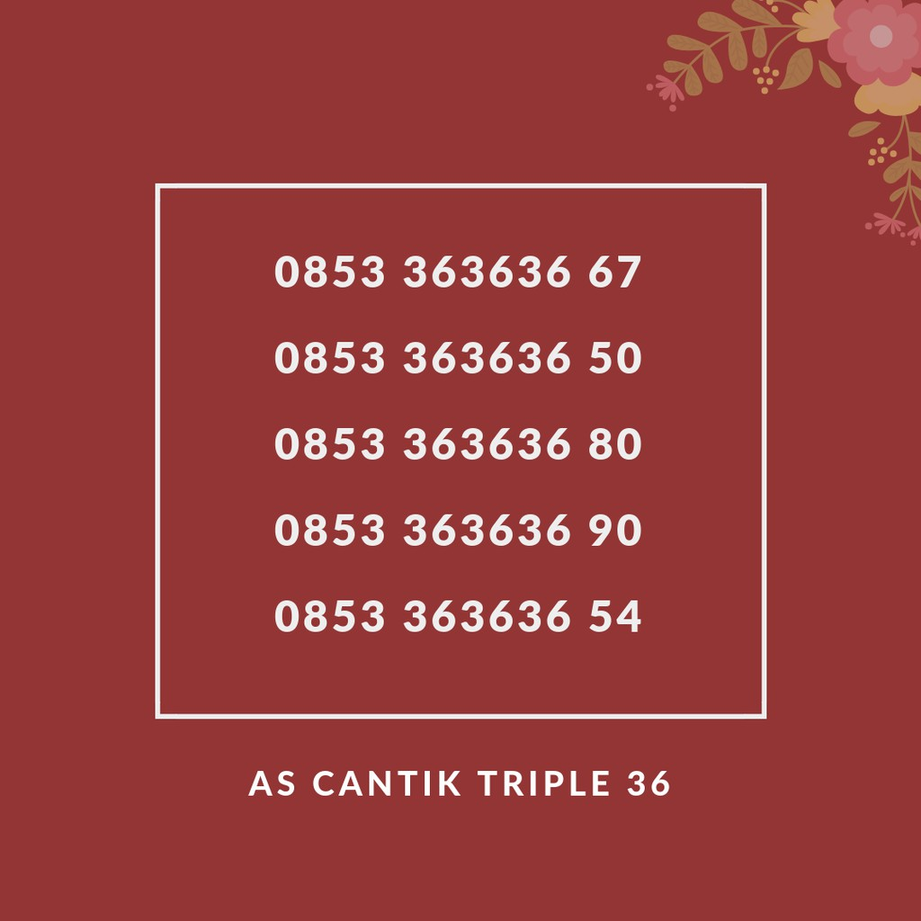 0812 891 5757 nomor cantik simpati. Source · Promo Belanja nomorcantiktelkomsel Online, September 2018