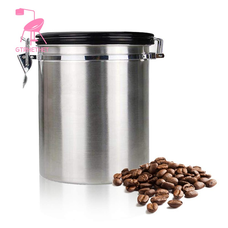 Coffee Flour Sugar Stainless Steel Container Storage Canister Vacuum Shopee Indonesia