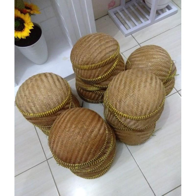 Tempat Bawang/Wadah Bawang/kalo/besek/anyaman bambu