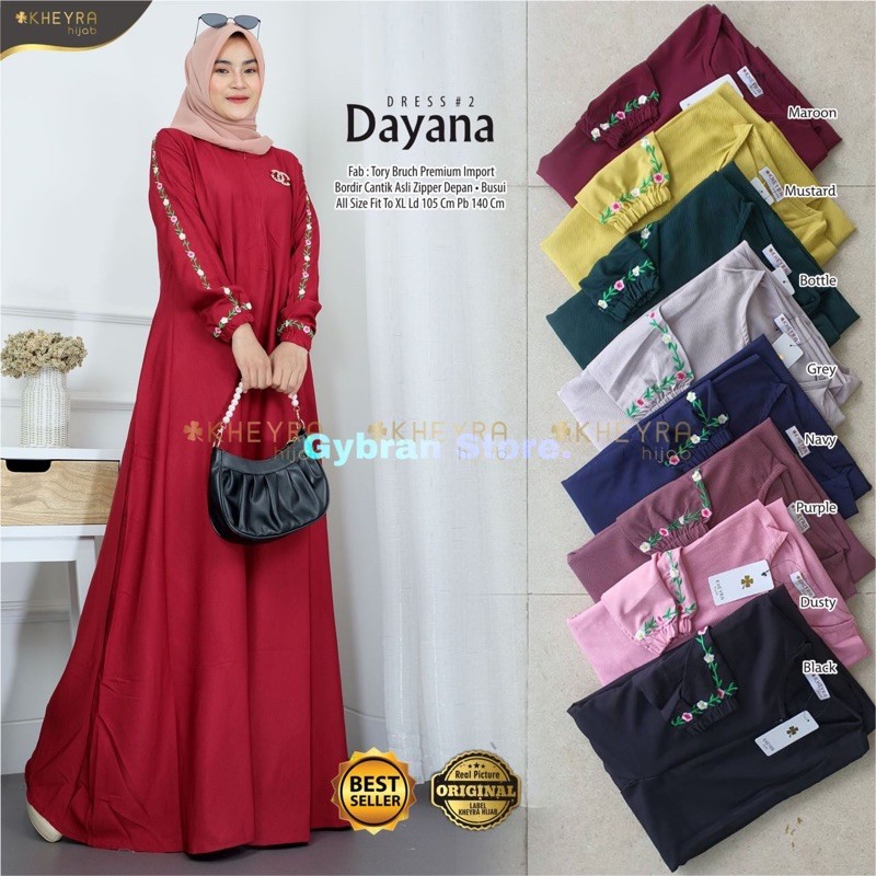DAYANA DRESS | MAXI DRESS DAYANA 100% ORIGINAL KHEYRA