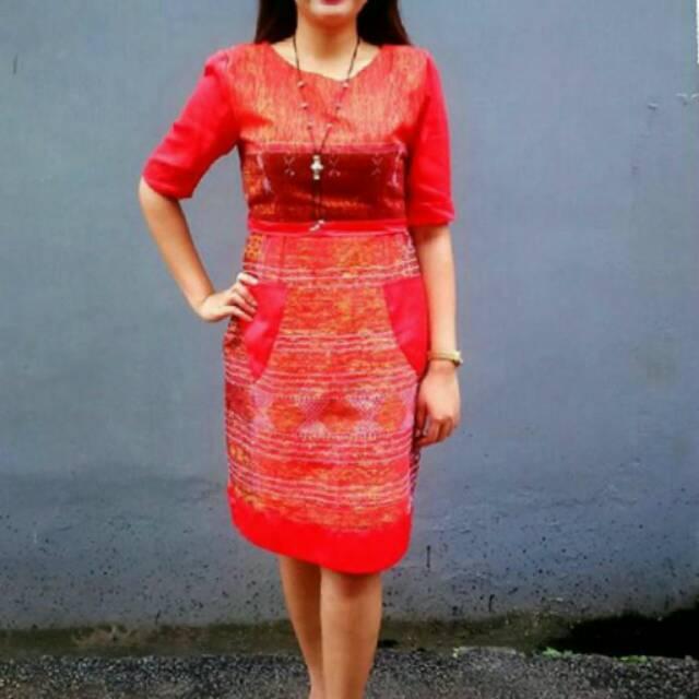 Dress Etnik Ulos Modern Pre Order