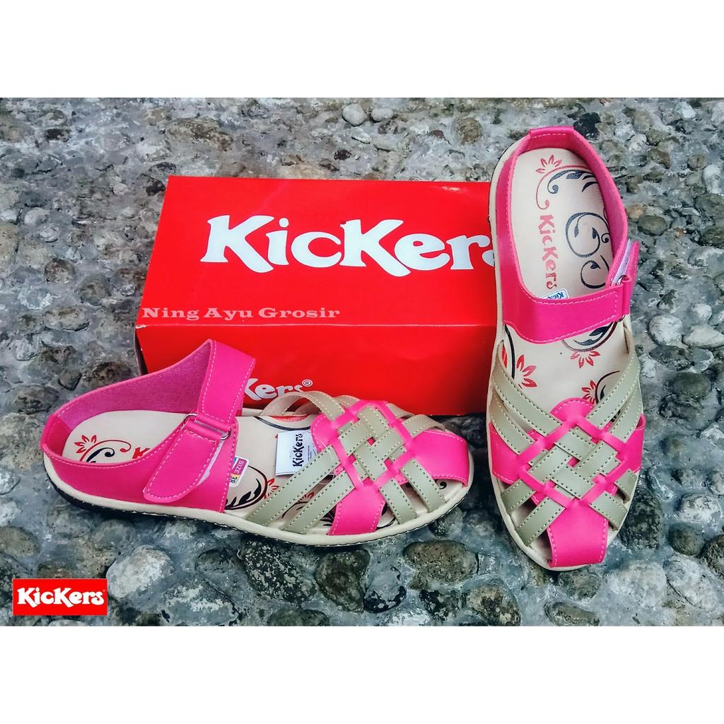 Sepatu Kickers Wanita Women Krem Kode 008 Shopee Cewe Sandal 010 Indonesia