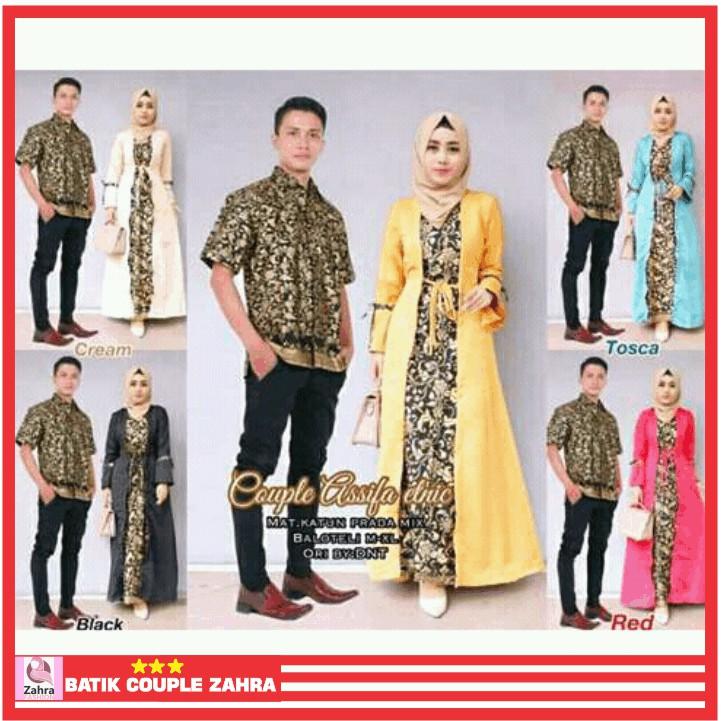 Couple   Sarimbit Gamis Batik Asyifa   Assifa   Asifa Etnic  63e0252047