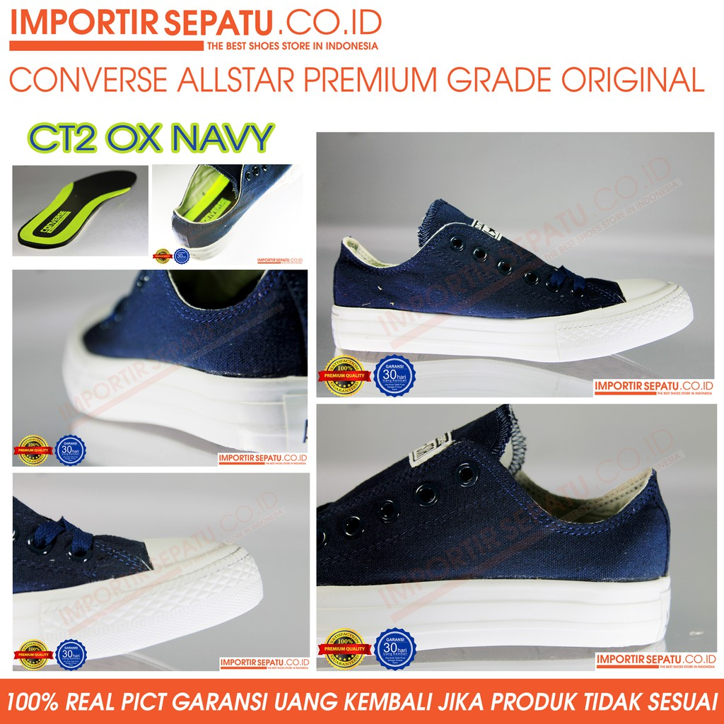 CONVERSE ALL STAR 1W885 CT AS CANVAS OX NAVY  d0b7b1270a