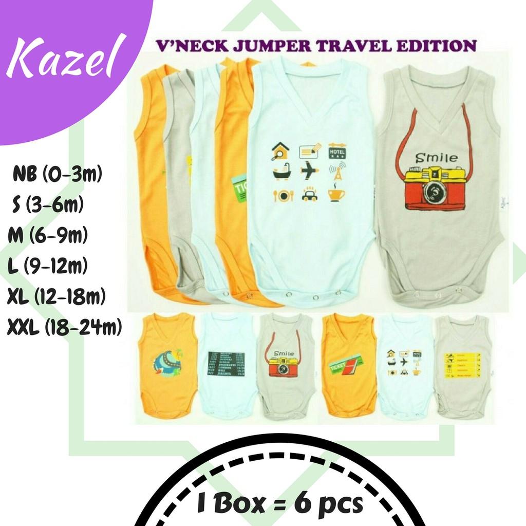 Kazel Bodysuit 4in1 Jumper Bayi Modern Fox Edition Boy | Shopee Indonesia