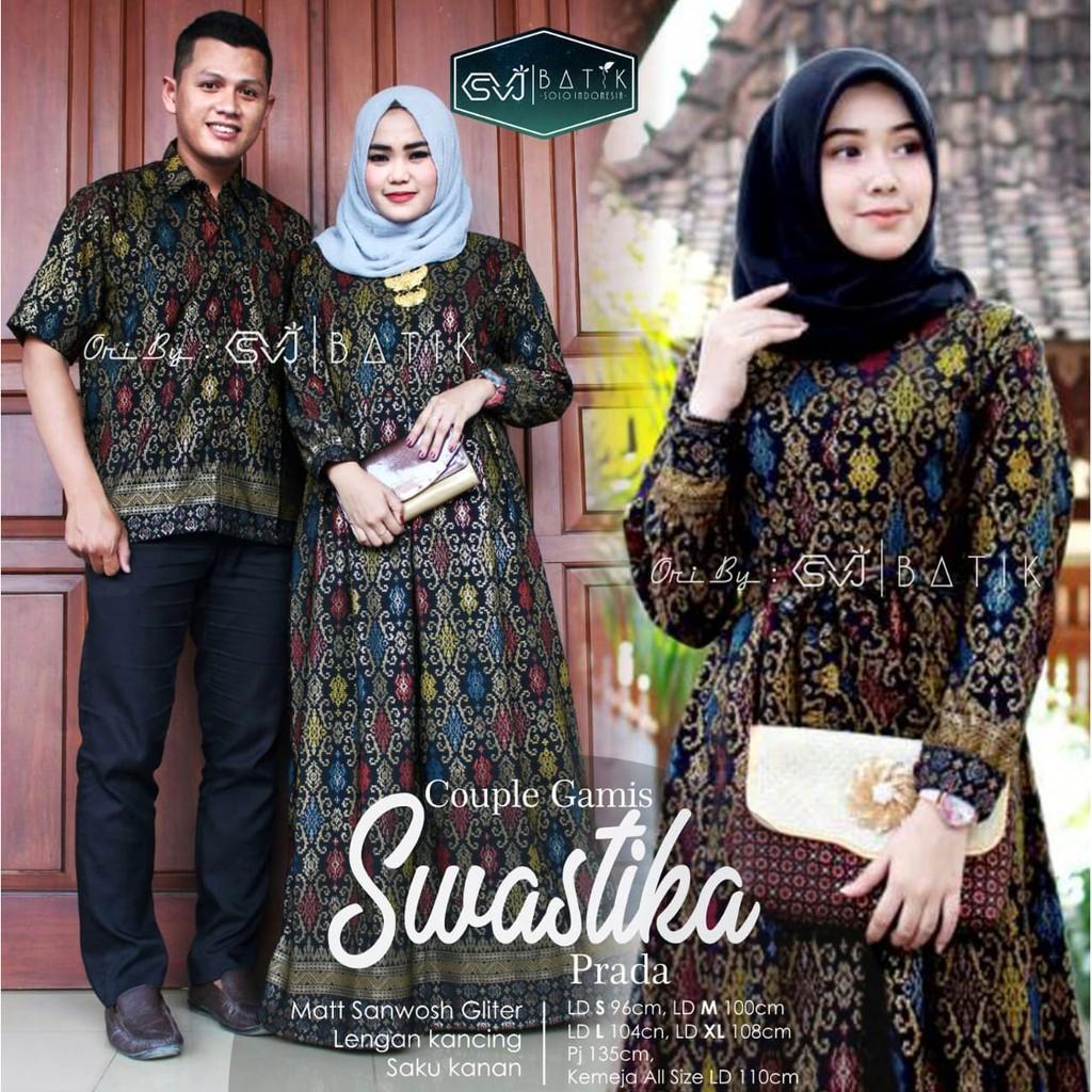 Swastika Batik Solo Couple Batik Modern Couple Family Batik Kombinasi Ori  By SVJ
