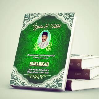 Buku Yasin Dan Tahlil Softcover Batik Hijau