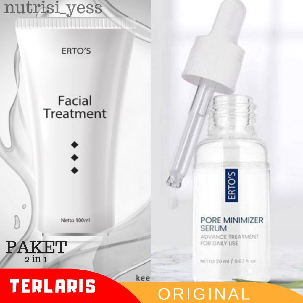 Paket Ertos Pore Minimizer Serum Dan Ertos Facial Treatment