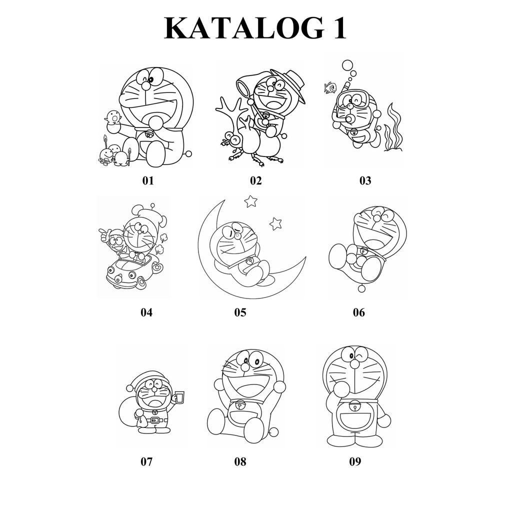 Cetak Gambar Mewarnai Untuk Anak Karakter Doraemon Murah