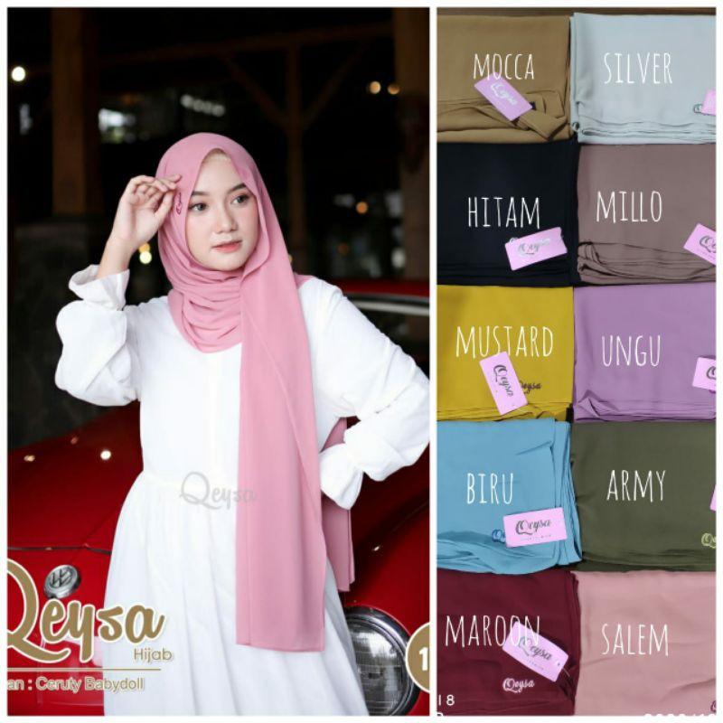 Qeysa hijab Original / Qeysa hijab pashmina / Jilbab pashmina qeysa