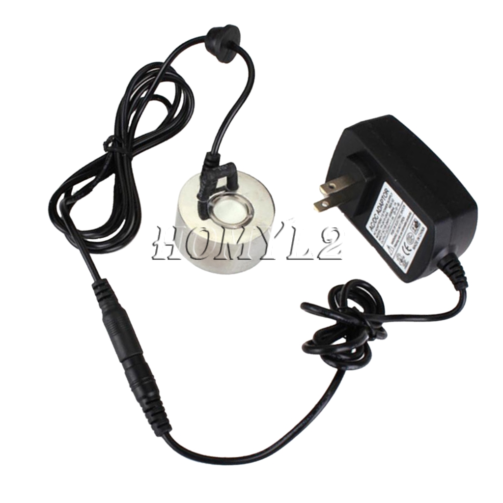 Fountain LED Light Water Mist Pond Fogger Mister Atomizer US Power Adapter