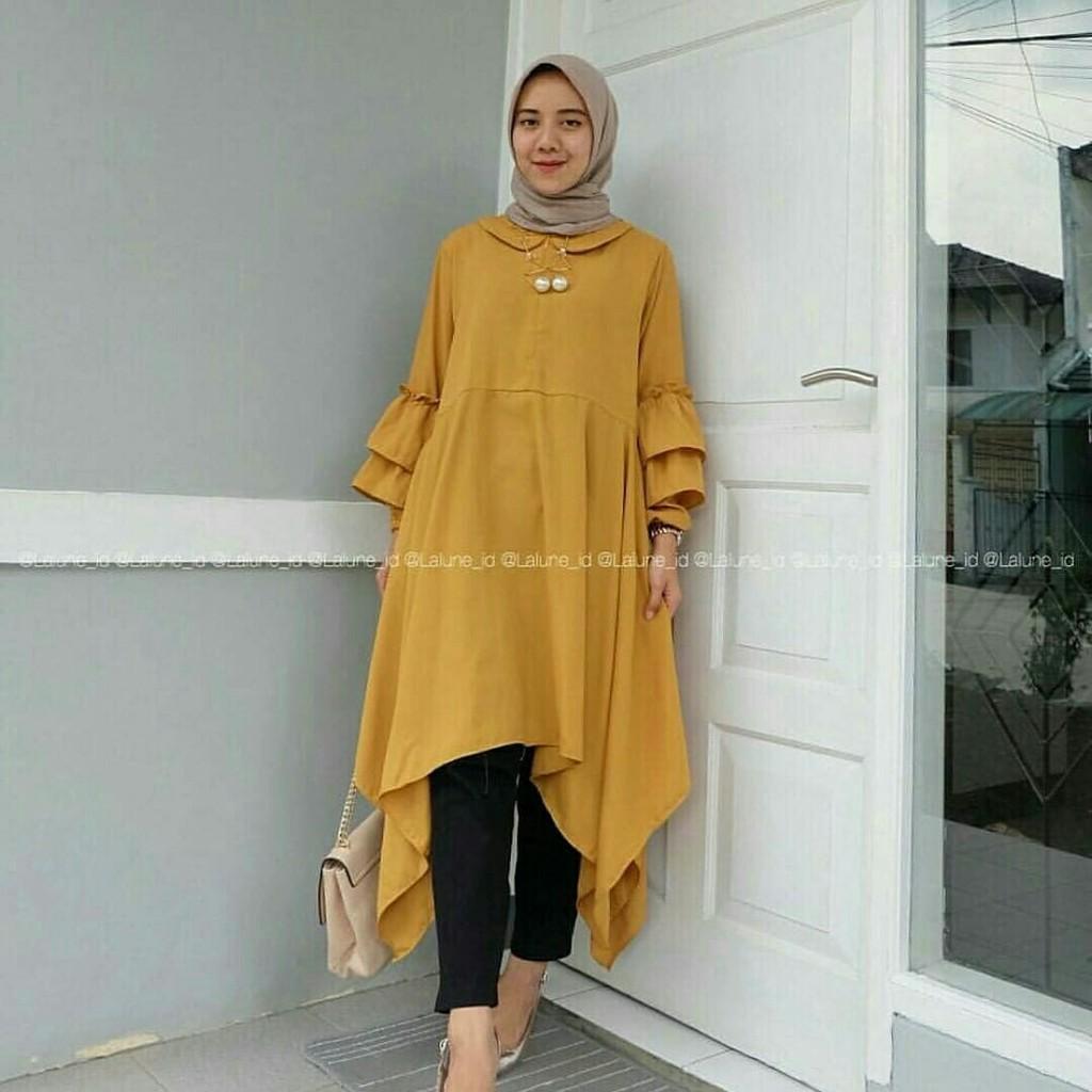 Dapatkan Harga Gamis Tunik Batik Kebaya Diskon Shopee Indonesia Baju Muslim Wanita Cewek Hijaber Maxy Maxi Long Veana Dress Limited