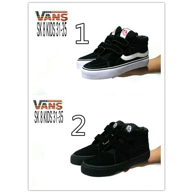 Sepatu Anak Vans Sk8 Mid Navy Original Preloved  279781aef3