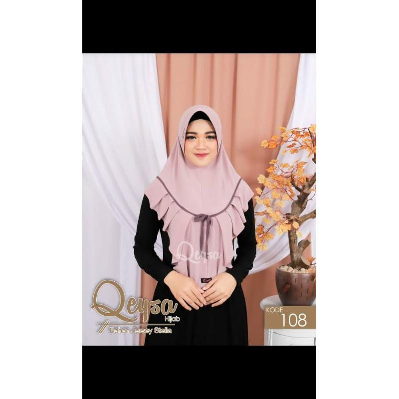 Qeysa Original / Qeysa hijab kode 108 / Hijab Rempel pita