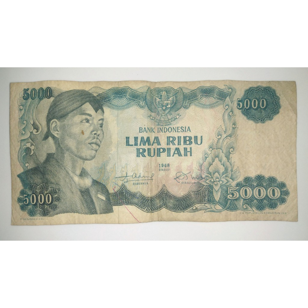 Uang Kertas Sudirman 5000 thn 1968