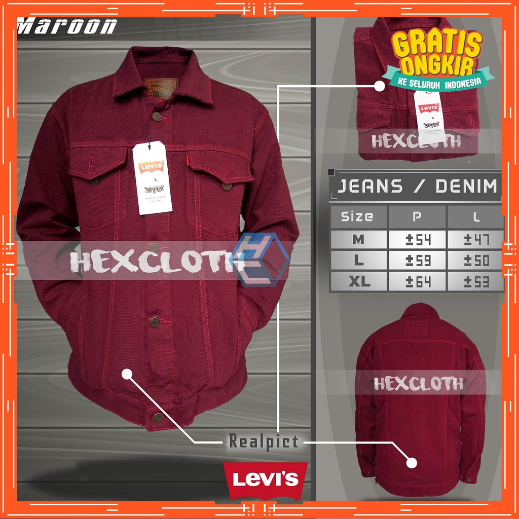 jaket pria   jaket jeans   jaket denim   jaket levis  d6b92b212a